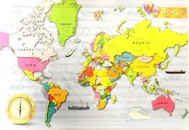 Mongolia On World Map Jigsaw Puzzle World Map Kids Gift Geography Globe Education Atlas
