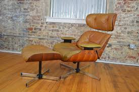 plycraft eames style walnut lounge chair and ottoman galaxiemodern