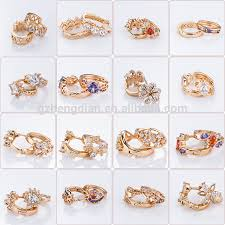 types of earrings for women wholesale all types of dubai new fashion 18k gold plated cubic