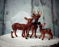 buck and doe cake topper cake topper deer family wedding deer buck doe fawn family