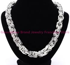 mens silver byzantine necklace images 4 5 7 8 10 12mm mens chain byzantine gold silver 316l stainless jpg