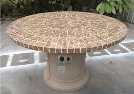 Mosaic Top Patio Table Pit Outdoor Table W Porcelain Mosaic Tile Top Bbq