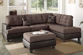 Sectional Sofa With Ottoman Brown Leather Sectional Sofa And Ottoman Steal A Sofa Furniture