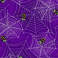 glow in the dark purple spiders on webs from the fantastic glows