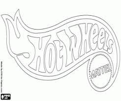free wheels logo mattel coloring printable