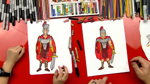 how to draw a roman soldier art for kids hub