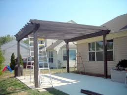Build An Awning Over Patio by How To Build A Pergola Over A Patio For The Yard Pinterest