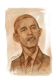 barack obama watercolor sketch editorial image image 20929175