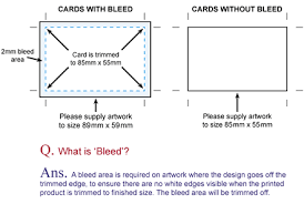 Bleed For Business Cards Cheap Business Card Prices At Trade Print Com