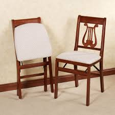 Stakmore Folding Chairs Vintage Lyre Folding Chair Pair