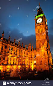 British Houses British Houses Of Parliament With Big Ben At Night Stock Photo