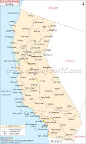 State Map Of California by California Rail Map All Train Routes In California
