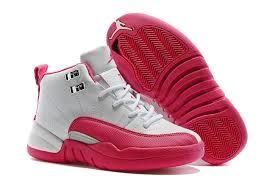 kid jordans kids air 12 valentines day pink white 75492 55