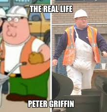 Meme Construction - real life peter griffin meme construction worker
