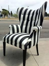 Accent Chairs Black And White Black And White Striped Accent Chair U2014 Home Decor Chairs