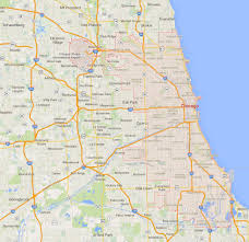 Map Chicago Suburbs by Chicago Illinois Map