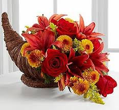 always wanted to do an arrangement in a cornucopia see photo