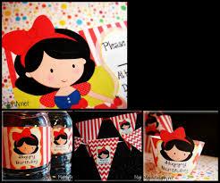 snow white princess party printable pack