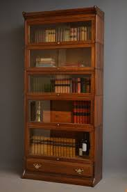 Barrister Bookcases With Glass Doors Furniture Oak Barrister Bookcase With Glass Doors 6 Shelves Lift