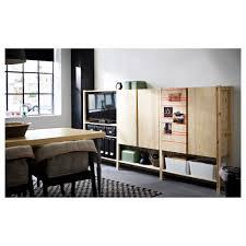 ivar 3 section shelving unit w cabinets ikea