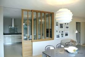 cloison pour cuisine vitre separation cuisine salon vitree modele de