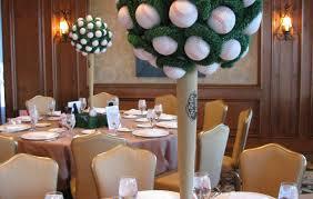 baseball wedding table decorations baseball topiary centerpiece decor for banquet party wedding ideas