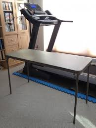 Walking Desk Treadmill Diy Treadmill Desk U2013 Under 50 U2013 No Tools Required Dowerchin Com