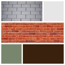 exterior color scheme for red brick and grey roof dark brown