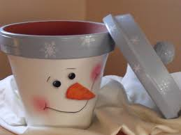 terra cotta pot snowman price 25 00 includes class and all