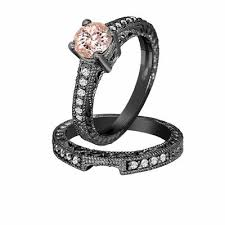 engagement sets morganite diamond engagement ring and wedding anniversary