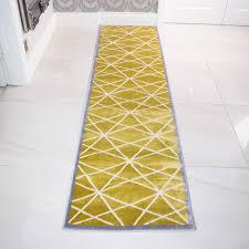 modern ochre yellow u0026 grey geometric rug kukoon