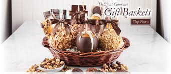 gift baskets free shipping top amys gourmet chocolate candy caramel apples in gift baskets