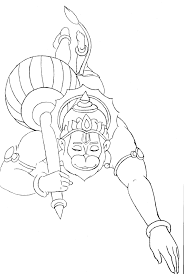 hanuman coloring book trace u0026 paint