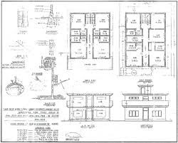 house drawings plans single storied residential house plan elevation and section