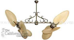 twin star ii ceiling fan twin star ii double ceiling fan with natural palm blades the