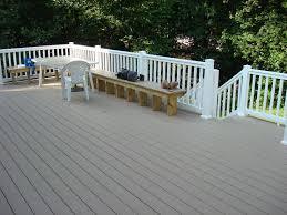 deck white rails with grey maintenance free materials of course