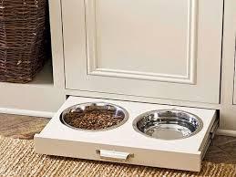 Food Storage Cabinet Pet Food Storage Cabinet With Bowls Home Design Ideas