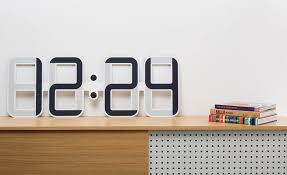cool digital clock the meter wide e ink wall clock from twelve24 cool material