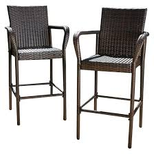 Bar Stool With Back And Arms Outdoor Bar Stools Target