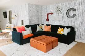 StorageottomancubeFamilyRoomEclecticwithbasementblueand - Wallpaper for family room