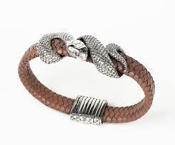 silver snake bracelet images Sterling silver leather snake bracelet silverlust fine jewelry jpg