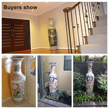 2 2 meter and 6 feet tall hand painted large chinese ceramic floor