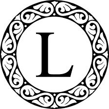 circle sroll letter l monogram clip art at clker com vector clip