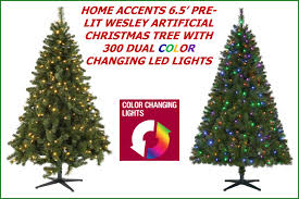 home accents 6 5 ft pre lit led wesley artificial tree