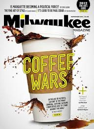 Coffee War milwaukee mag us coffee wars conceptual magazine cover mocha me