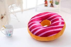 60cm donut cushion plush food toy pillows creative simulation food