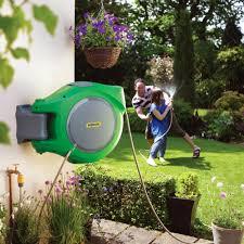 water hose reel wall mount hozelock hozelock auto retractable wall mounted hose reel in