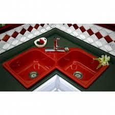 CorStone Harmony SelfRim Double Bowl Corner Kitchen Sink Red - Corstone kitchen sink