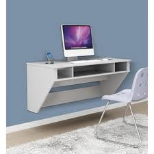 laptop desk for small spaces beige solid wood floating shelves over floating wooden study desk