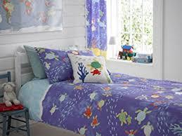 Children S Duvet Cover Sets Single Bed Childrens Duvet Cover Set In The Deep Blue Amazon